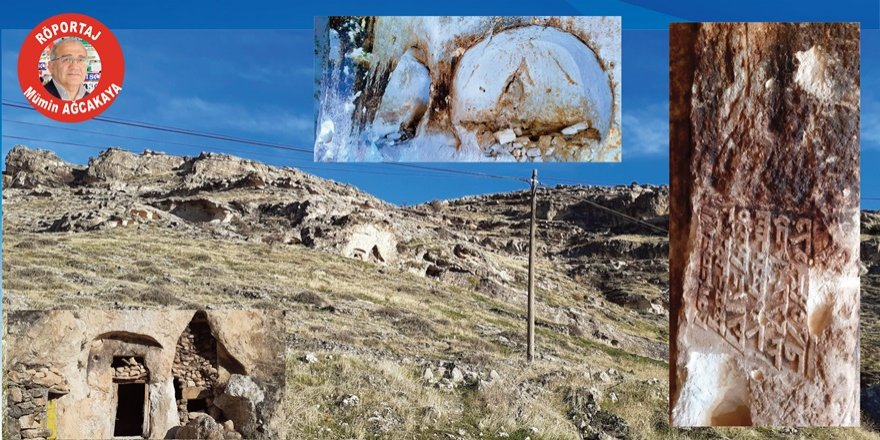 VİDEO - Tarihi mağarada kitabe bulundu