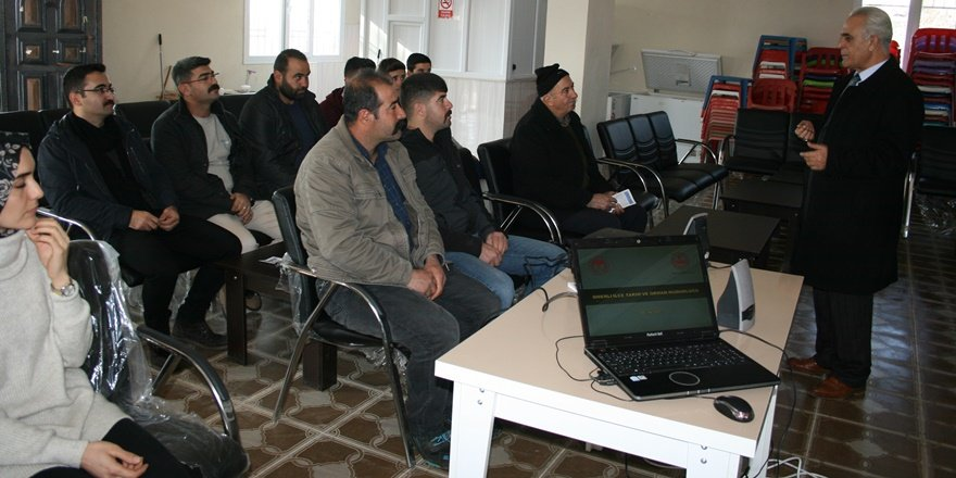 Mardin Ömerli'de çiftçilere eğitim