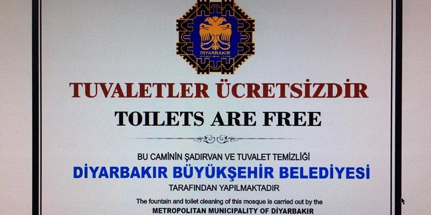 Diyarbakır'da 22 camide ücretsiz WC hizmeti