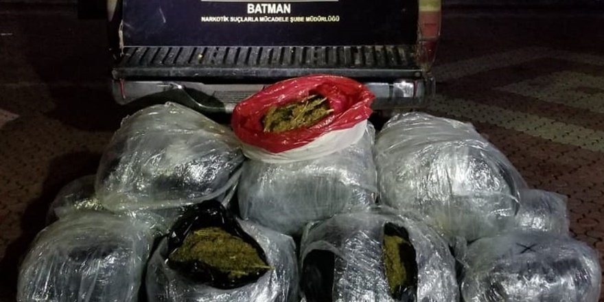 Batman'da 110 kilogram esrar ele geçirildi