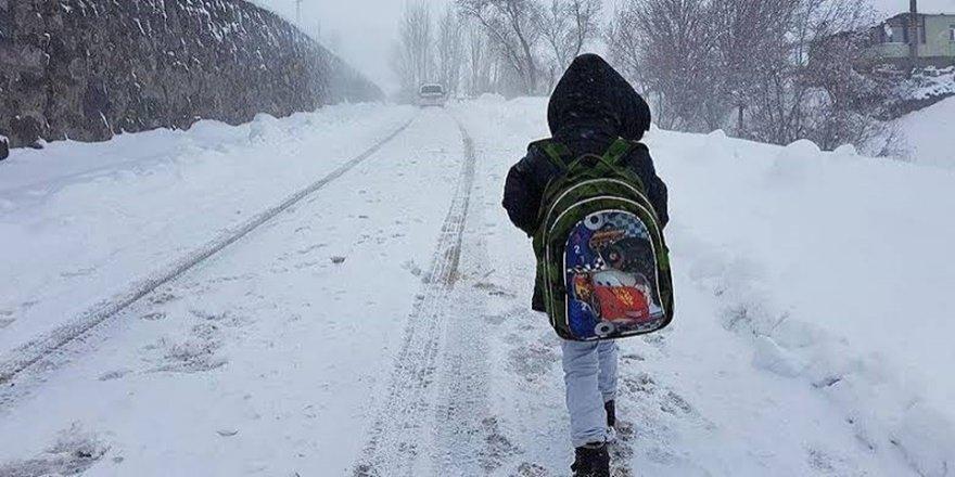 Muş'taki okullarda bir gün kar tatili
