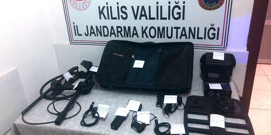 Kilis'te kaçak kazı: 5 gözaltı