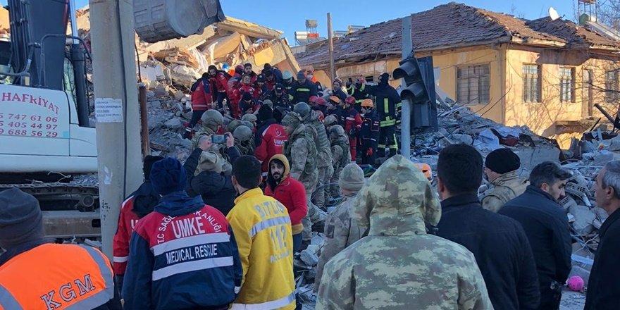 Diyarbakır'dan Elazığ'a sevk edilen ekipler çalışmalarını sürdürüyor