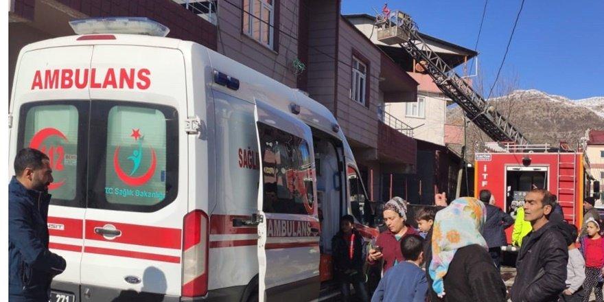 Lice'de yangın: 2 yaralı