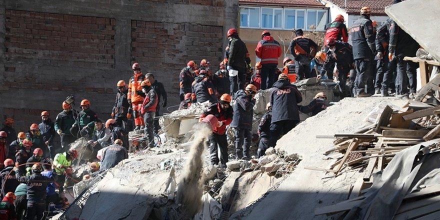 Elazığ depreminde arama kurtarma çalışmaları tamamlandı