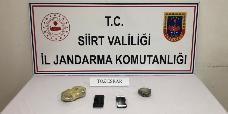 Siirt'te narkotik operasyonu: 2 gözaltı