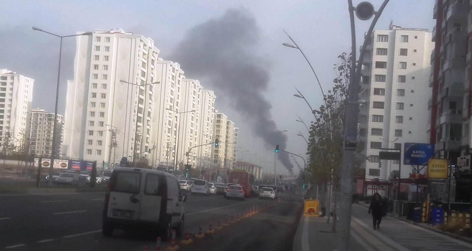 VİDEO-Isınmak için yakılan lastikler hava kirliğine neden oldu