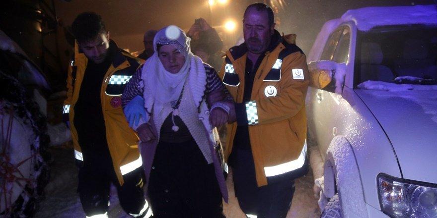 Bitlis'te 8 saatlik hasta kurtarma operasyonu