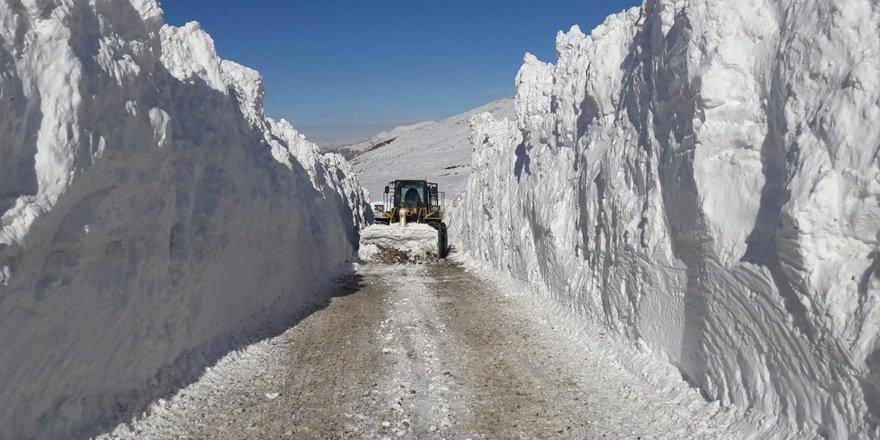 Siirt'te 2 metre kar: 85 köy yolu ulaşıma kapandı