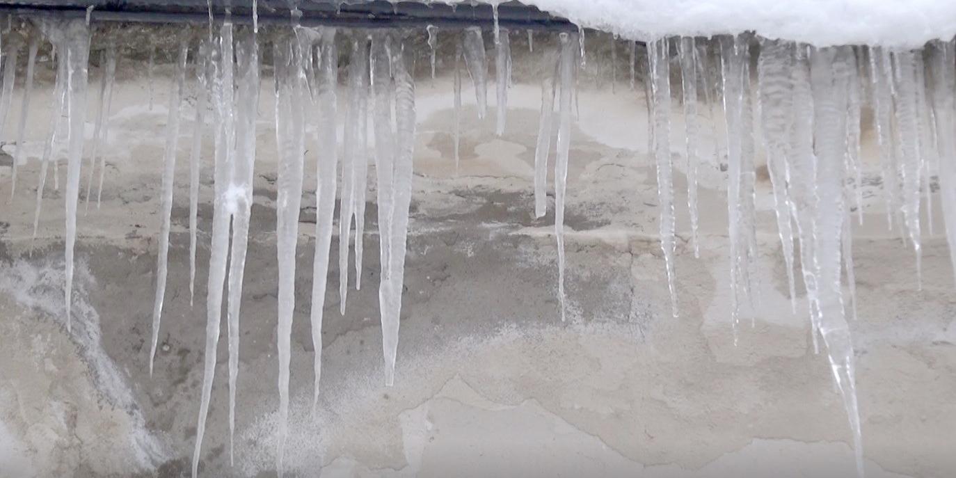 Kırkat göleti buz tuttu