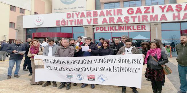 Diyarbakır'dan sağlıkta şiddete karşı ortak açıklama