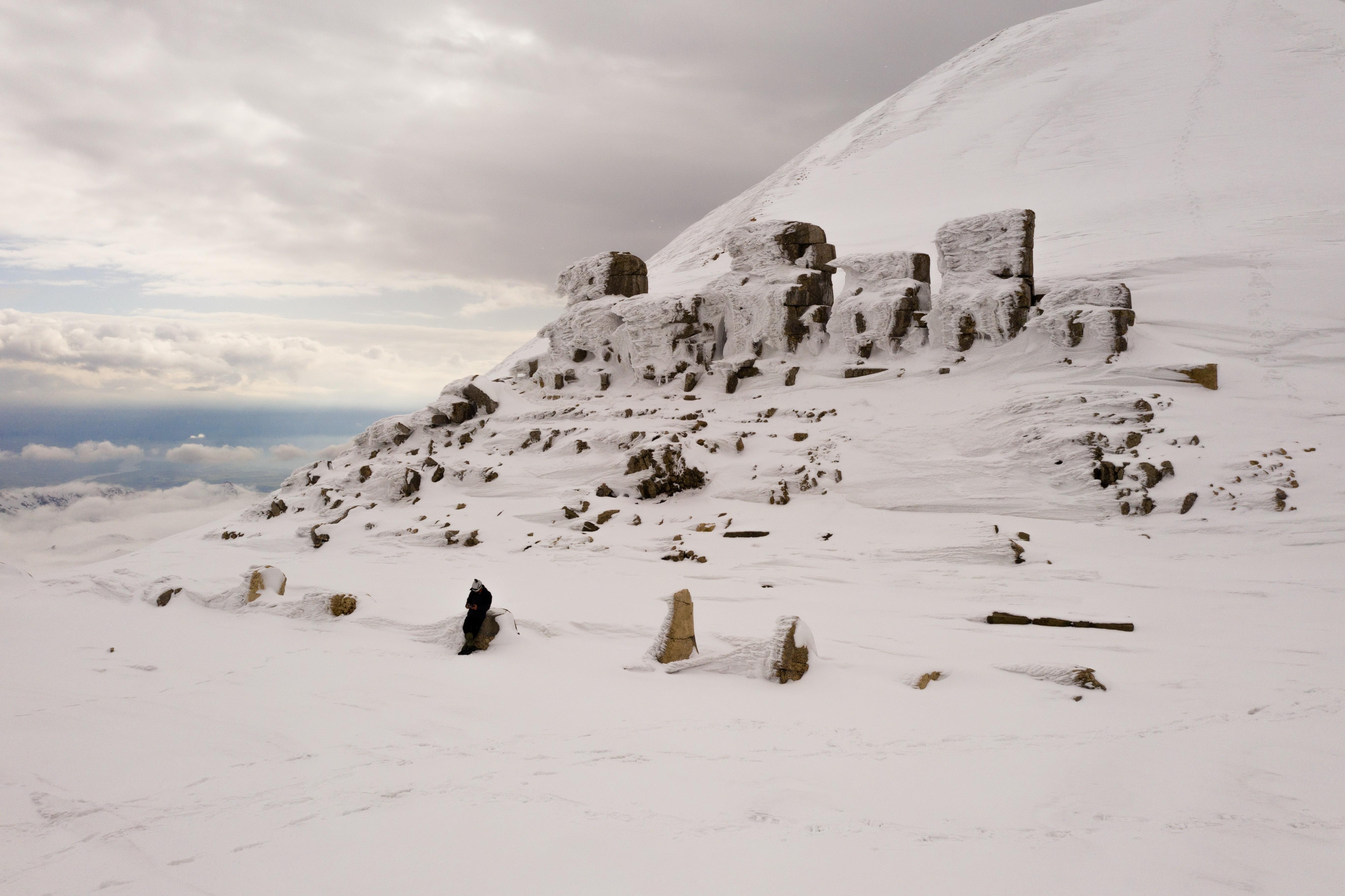 Nemrut'un güzelliği havadan görüntülendi