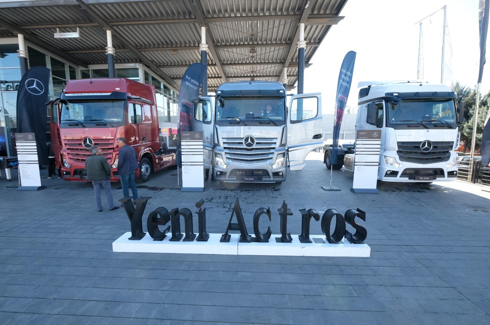 VİDEO- Mercedes'in ödüllü kamyonları Diyarbakır'da!