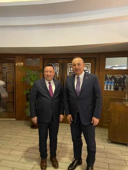Beyoğlu Bakan Çavuşoğlu ile görüştü
