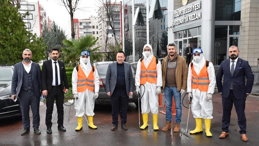 Bağlar Belediyesi'nden koronavirüse karşı özel ekip