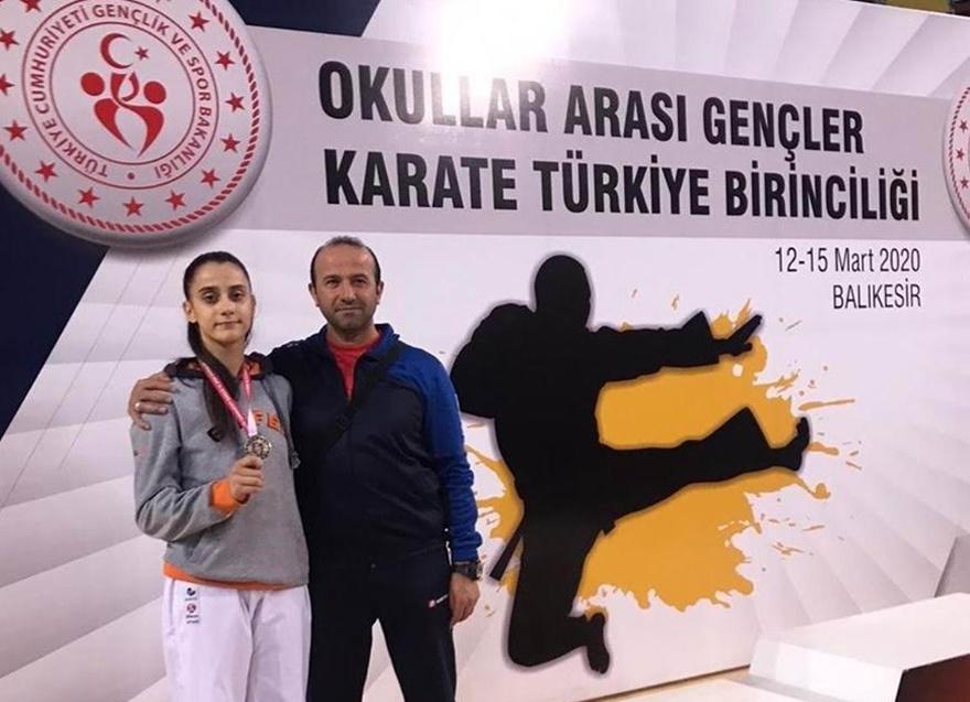 Diyarbekirsporlu karateci Türkiye ikincisi oldu