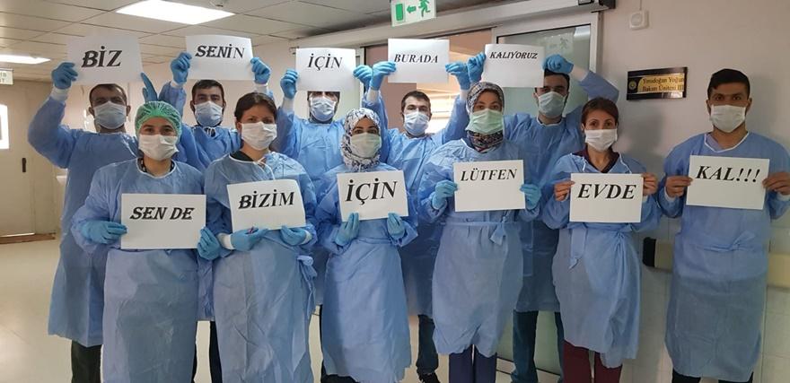 Dicle Üniversitesi sağlık çalışanlarından vatandaşlara çağrı