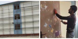 Eğil'de okullarda bakım ve onarım çalışması başladı