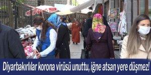 Diyarbakırlılar korona virüsü unuttu, iğne atsan yere düşmez!
