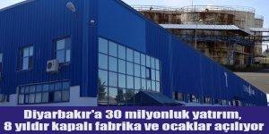 Diyarbakır'a 30 milyonluk yatırım, 8 yıldır kapalı fabrika ve ocaklar açılıyor