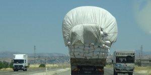 Saman yüklü kamyonların tehlikeli yolculuğu başladı