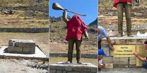 Tunceli'de Hasret Gültekin anıtına saldırı
