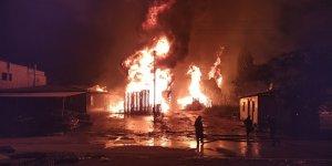 Gaziantep 3. Organize Sanayi Bölgesinde fabrikada yangın
