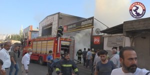VİDEO - Diyarbakır'da iş yerinde mangal faciaya neden oluyordu