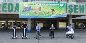 Kaymakam Beşikçi belediye binasına bisikletle geldi