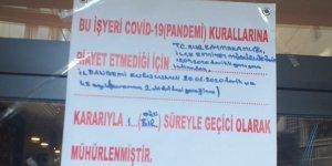 Sur'da korona tedbirlerine uymayan 2 iş yeri kapatıldı