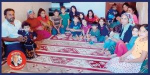 19 çocukla yokluk içinde geçen bir yaşam