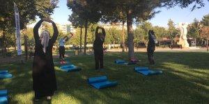 Diyarbakır'da sabah sporlarına yoğun ilgi