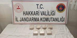 Hakkari'de 3 kilo 500 gram eroin arazide terk edildi
