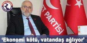Saadet Partisi Diyarbakır İl Başkanı Bozan: Ekonomi kötü, vatandaş ağlıyor