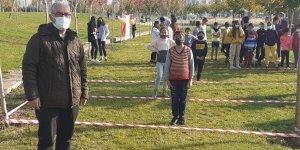 Diyarbakır'da atletizm sporcuları oryantiring yaparak hazırlanıyorlar