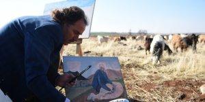 Siverekli 'Picasso Bekir' usta ressamlara taş çıkartıyor