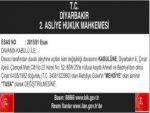 T.C Diyarbakır 2. Asliye Hukuk Mahkemesi
