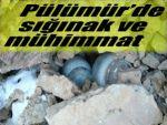 Pülümür'de sığınak ve mühimmat bulundu