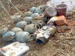 Muş'ta PKK'ye ait el yapımı patlayıcı ile 15 tüp ele geçirildi