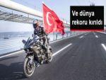Kenan Sofuoğlu, Osmangazi Köprüsü'nde Dünya Rekoru Kırdı