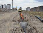 Dokuzçeltik ve Talaytepe'de kanalizasyon şebekesi döşeniyor