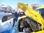 Tunceli'de sürücülerin soğukla imtihanı