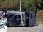 Zırhlı polis aracı devrildi: 2 polis yaralandı