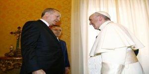Erdoğan, Papa ile yaptığı görüşmeyi anlattı