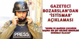 Gazeteci Bozarslan'dan 'istismar' açıklaması