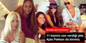 Ajda Pekkan da Mina Başaran ve Arkadaşlarının Hayatını Kaybettiği Jete Binmiş