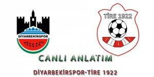 DİYARBEKİRSPOR-TİRE 1922 maç sonucu: 0-0