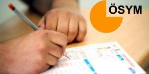 ÖSYM sınav takvimini güncelledi