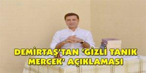 Demirtaş'tan 'gizli tanık Mercek' açıklaması
