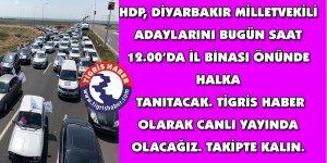 HDP Diyarbakır milletvekilli adaylarını tanıtacak